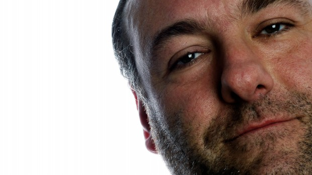 Actor James Gandolfini poses during a photo shoot in New York. G