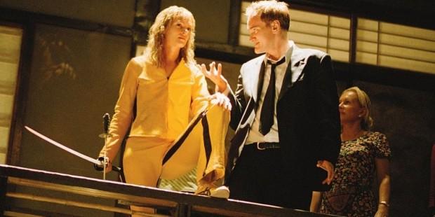 Quentin-Tarantino-and-Uma-Thurman-on-the-set-of-Kill-Bill